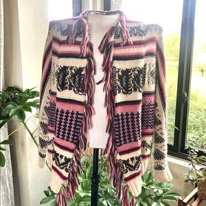 American Eagle Southwest Inspired Fringe Sweater